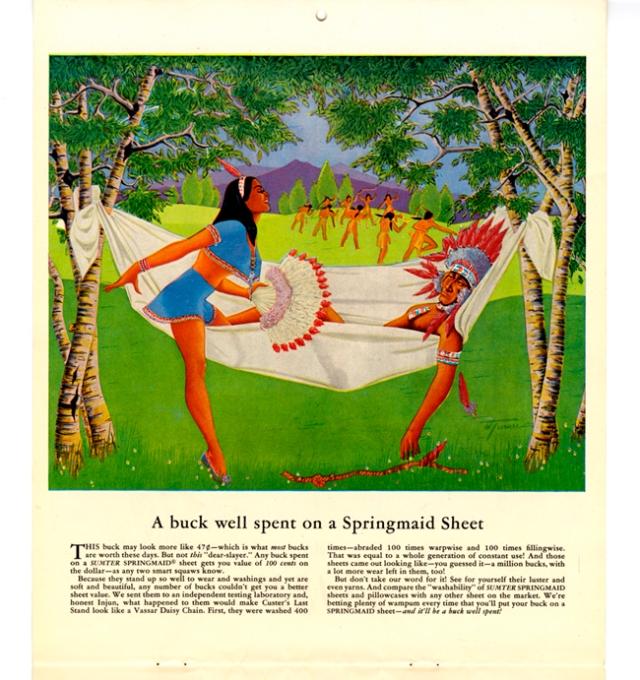 A-BUCK-WELL-SPENT-Springmaid-Calendar-1951